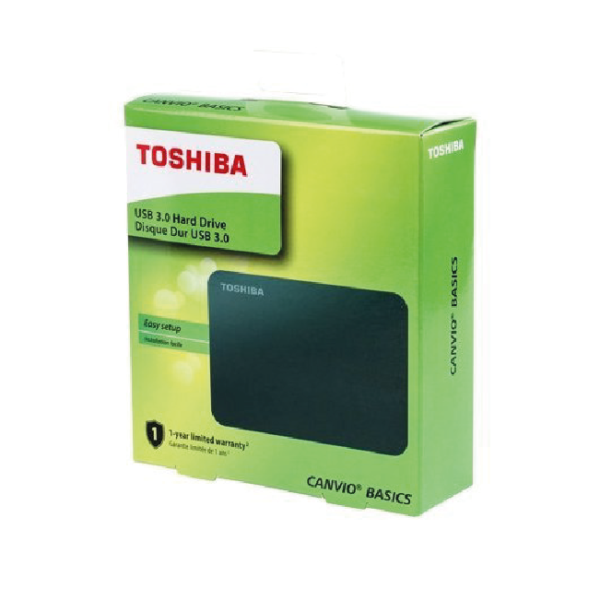 "Disco Duro Externo Toshiba Canvio Basic - 1TB - 2.5"" - USB 3.0 - Negro"