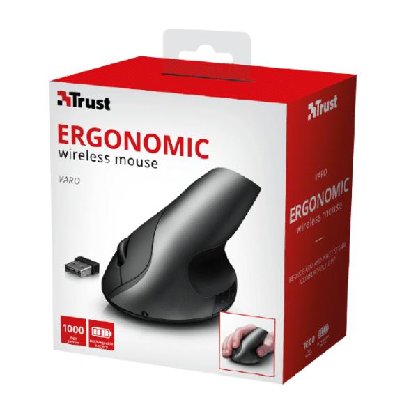 Varo Ergonomic Wireless Mouse