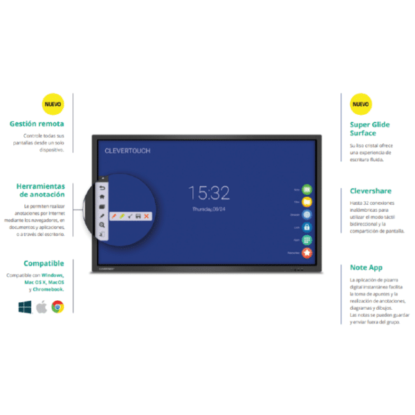 Monitor Interactivo CLEVERTOUCH V 4K