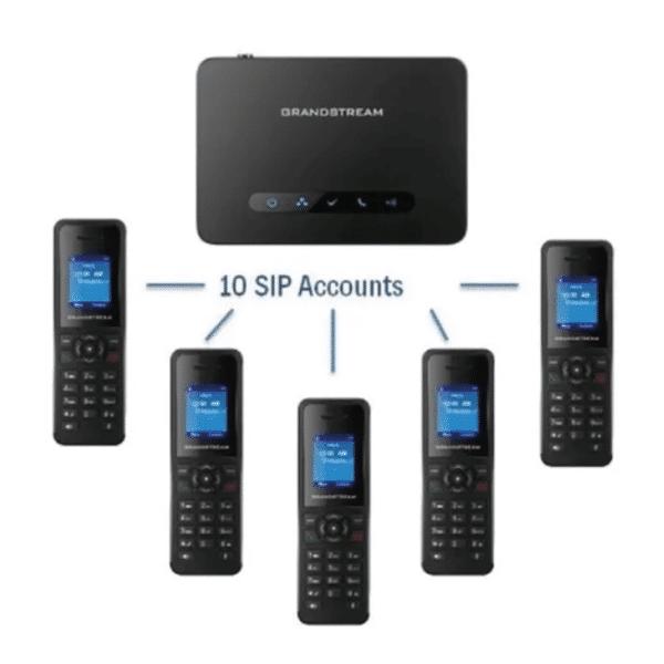 Telefono Ip Grandstream Dp720 Inalambrico 10 Sip Dect 6.0